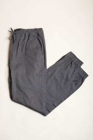 Charcoal Grey Ankle Zip Jogger Pants