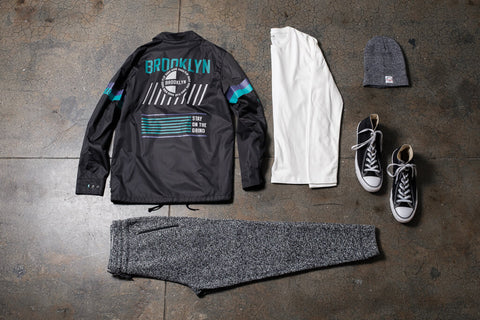 Cozy Joggers Outfit - Jogger sweatpants with coaches jacket