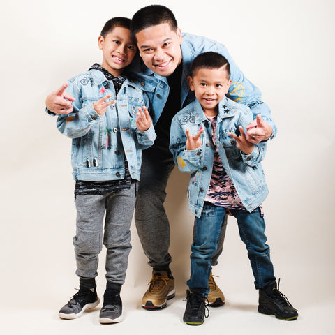 Matching Denim Jackets for son and dad
