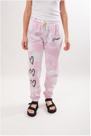 Brooklyn Cloth's Women's Pink Blessed Tie Dye Jogger
