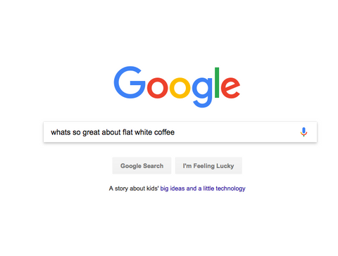 Googling Flat White Coffee