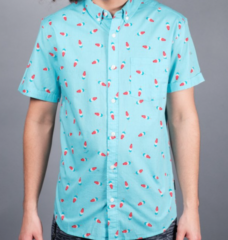 Light Blue Popsicle Woven Shirt