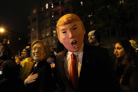 Trump Costume in Village Halloween Parade