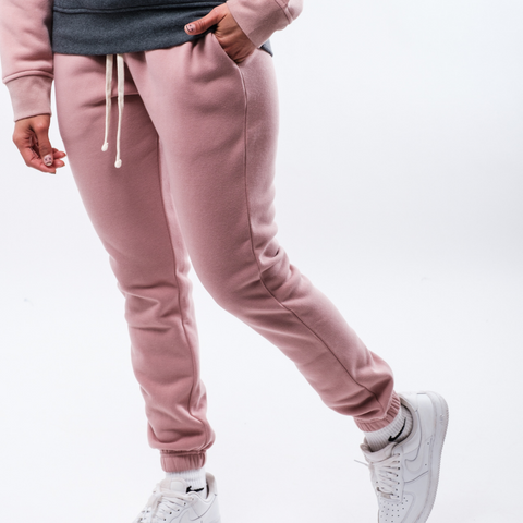 Women's Dusty Rose Pop Color Jogger from Brooklyn Cloth