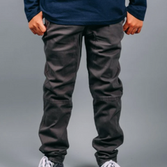 Boy's Charcoal Twill Jogger Pants from Brooklyn Cloth