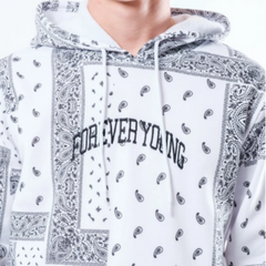 Men's Forever Young Bandana Hoodie by Brooklyn Cloth