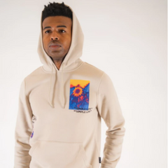 Mens's Sand Stop the Hustle Hoodie by Brooklyn Cloth
