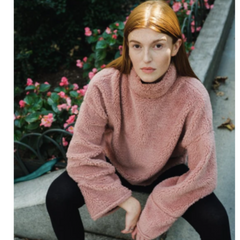 Women's Sherpa Mock Neck Pullover from Brooklyn Cloth
