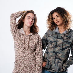 Women's Leopard and Olive Camo Hoodies from Brooklyn Cloth