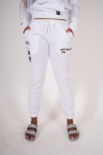 women's good vibes only doodle jogger by Brooklyn Cloth