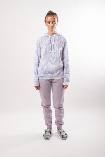 women's lavender pop color jogger by Brooklyn Cloth