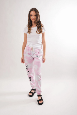Women's Pink Blessed Tie Dye Jogger by Brooklyn Cloth