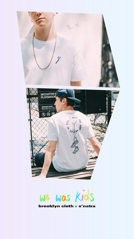 Limited Edition white tee shirt from Brooklyn Cloth