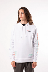 Men's White Open Your Mind Hoodie
