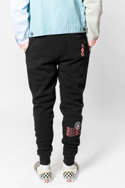 Black Sakura Jogger Pants