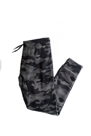 Boy's Black Camo Fleece Jogger