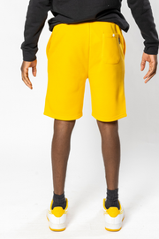 Gold Sun Knit Shorts for guys