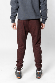 Burgundy Streaky Print Fleece Jogger Pants 2.0 by Brooklyn Cloth
