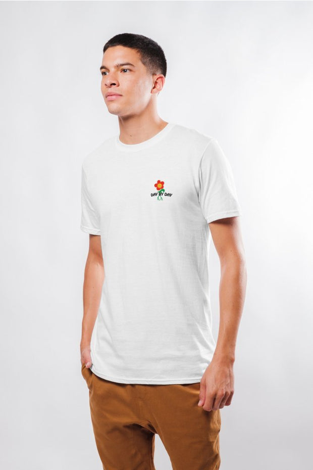 Original Garment White Day By Day Flower Tee