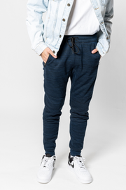 Ocean Printed Space Dye Fleece Jogger Pants 2.0