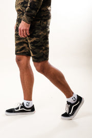 All Over Print Camo Shorts