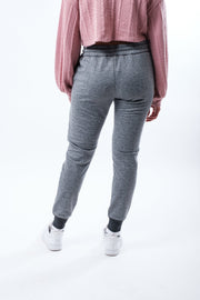 Women's Grey Zip Pocket Speckled Streaky Jogger