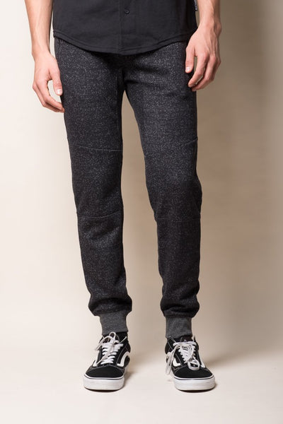 Onyx Marl Zipper Men's Joggers