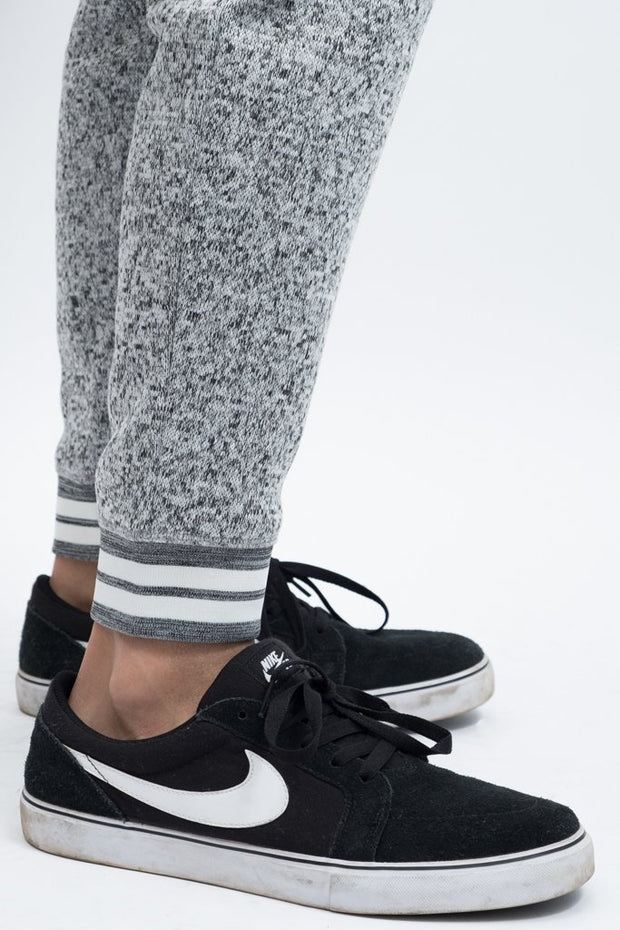 Shop Men's Grey Cozy Knit Jogger Pants at Brooklyn Cloth