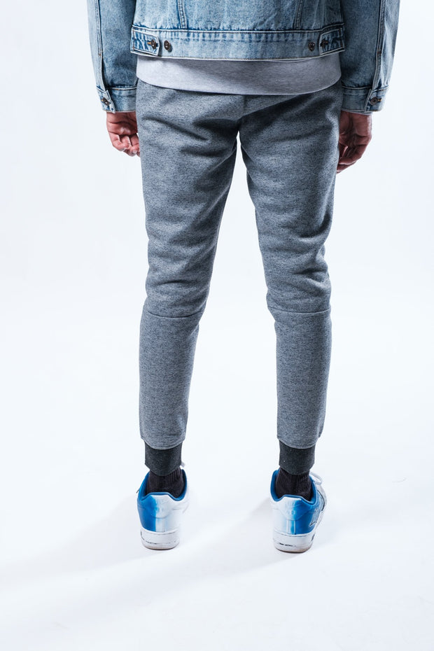 Black Marl Nylon Zip Pocket Jogger Pants
