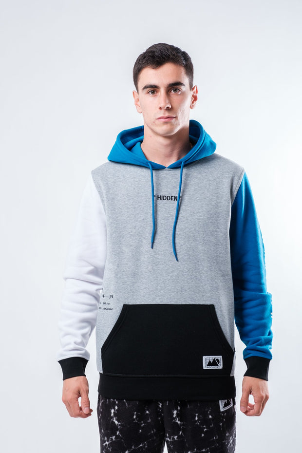 Heather Grey Hidden Color Blocked Hoodie