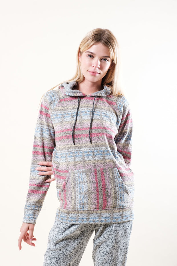 Pink Native Teddy Hoodie for women