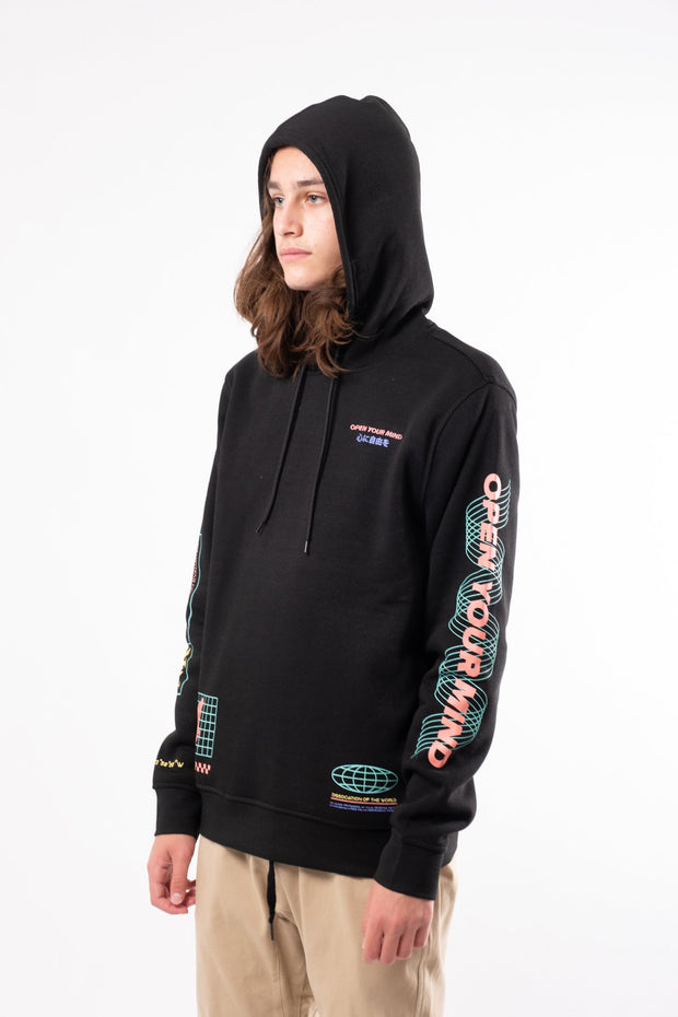 "Black ""Open Your Mind"" Hoodie"