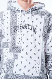 White Forever Young Bandana Hoodie