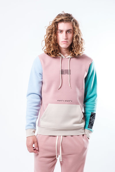 Dusty Rose Nature Tech Blocked Hoodie