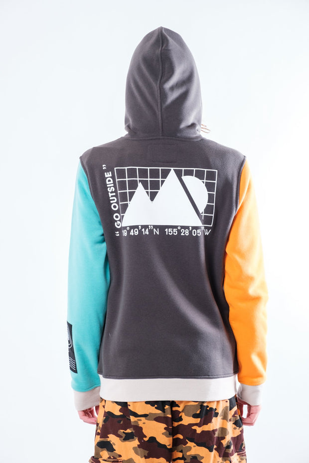 Dusty Black Nature Tech Blocked Hoodie