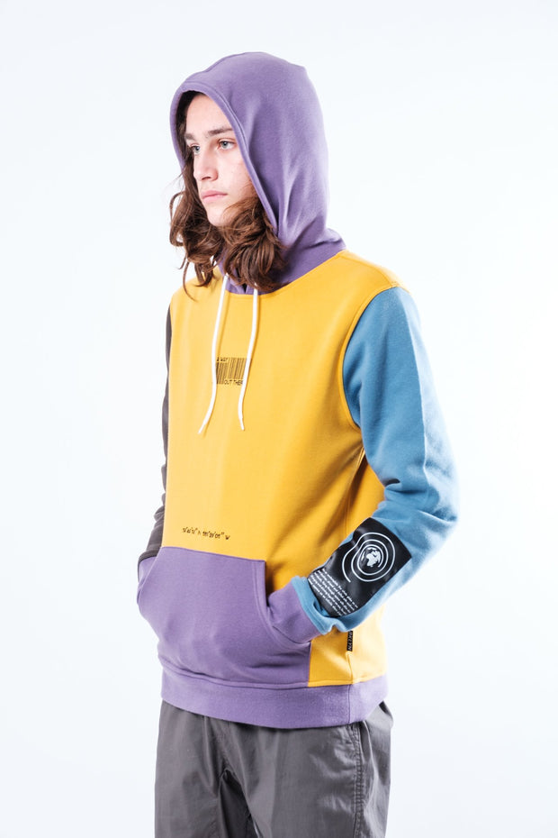 Mustard Nature Tech Blocked Hoodie