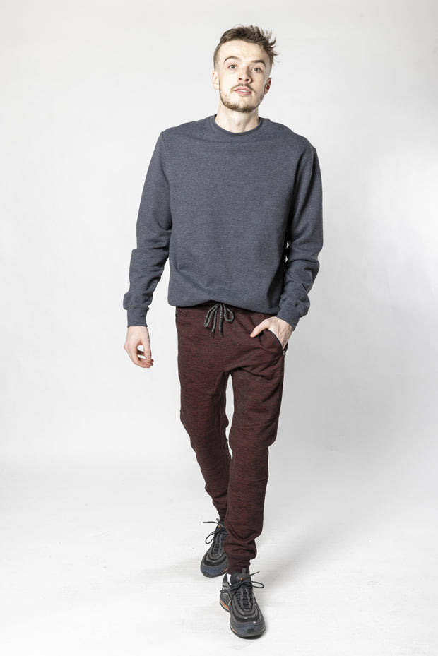Burgundy Streaky Print Fleece Jogger Pants 2.0