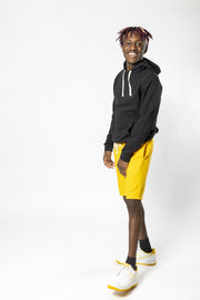 Gold Sun Knit Shorts by Brooklyn Cloth