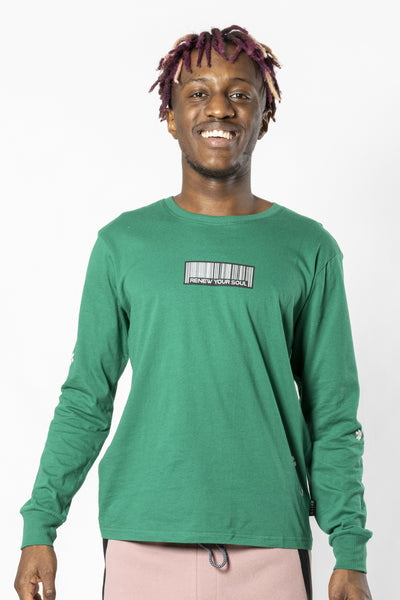 Green Renew Your Soul Long Sleeve Tee