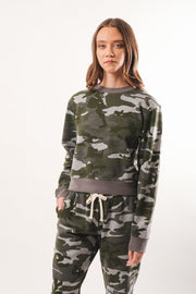 Women's Olive Camo Sweat Jogger