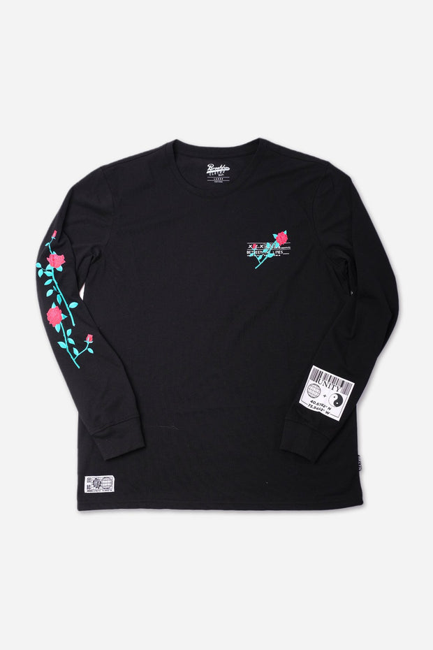 Black Unity Rose Long Sleeve Tee