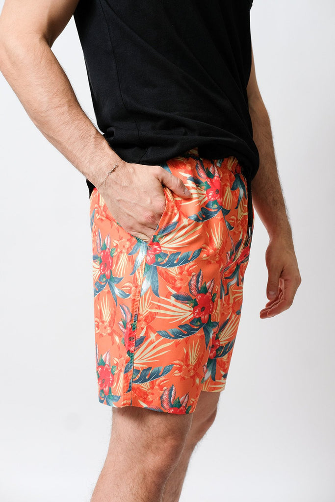 Hibiscus Volley Shorts for Men