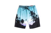 Teal Palm Sunset Shorts