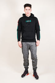 Brooklyn Cloth Black Savage Checkered Hoodie for Men