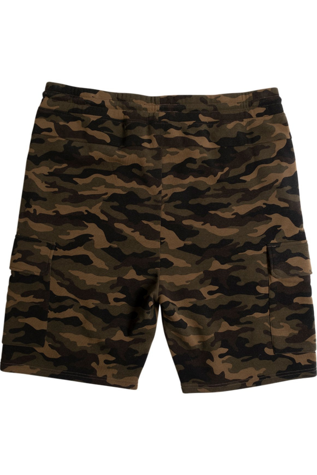 Big & Tall Camo Fleece Cargo Shorts