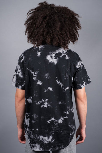 Black Tie Dye Woven Shirt at Brooklyn Cloth