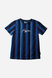 Boy's Blue Hype Vertical Stripe Tee