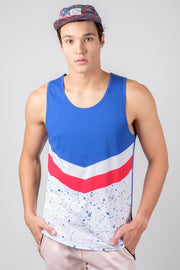 Red White and Blue Chevron Tank Top