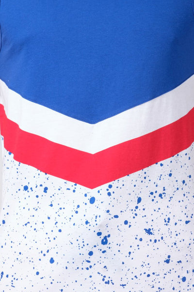 Red White and Blue Chevron Tank Top for Men