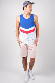 Brooklyn Cloth Red White and Blue Chevron Tank Top